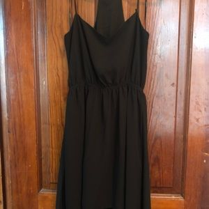 Black high/low dress - size small